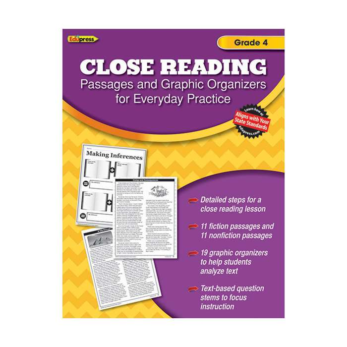 Close Reading Practice Book Gr 4, EP-2562