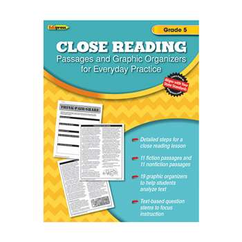 Close Reading Practice Book Gr 5, EP-2563