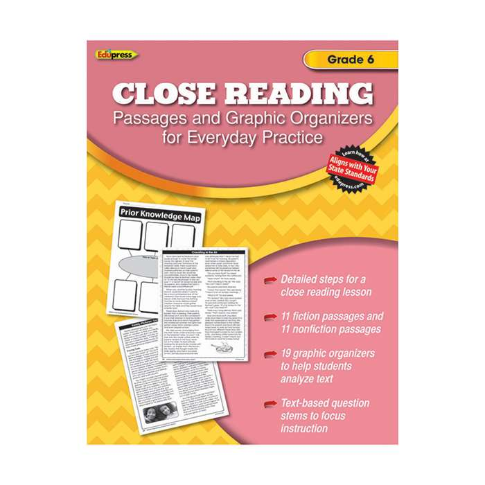Close Reading Practice Book Gr 6, EP-2564