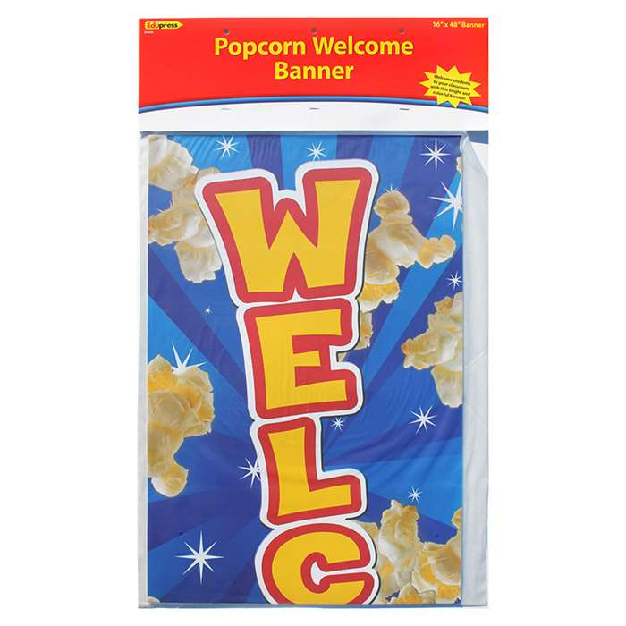 Popcorn Welcome Banner By Edupress