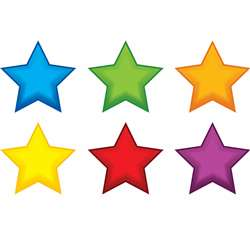 Colorful Stars Mini Accents By Edupress