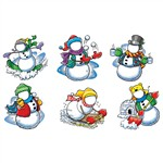 Snowmen My Face Accents By Edupress