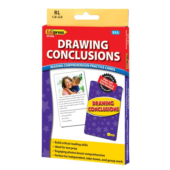Shop Drawing Conclusions Ylw Lvl Reading Comprehension Practice Cards - Ep-2988 By Edupress