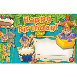 Happy Birthday Monkeys Bookmark Awards By Edupress