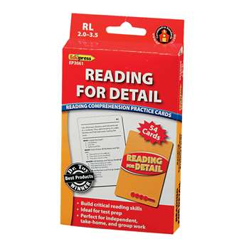 Reading For Detail - 2.0-3.5 By Edupress