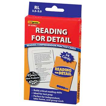 Reading For Detail - 3.5-5.0 By Edupress