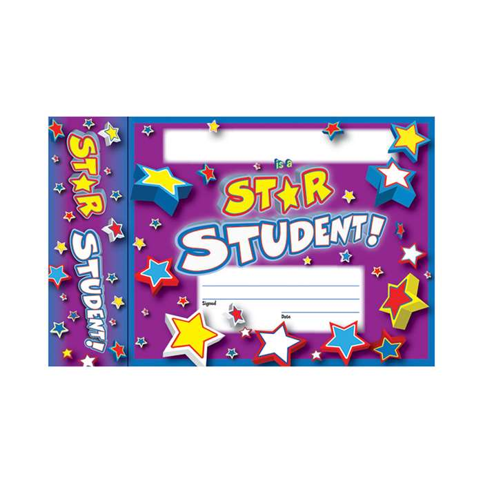 Star Student Bookmark Award By Edupress