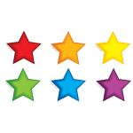 Colorful Stars Bulletin Board Set Accent, EP-3144R