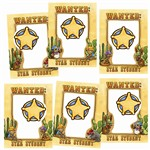 Wanted Star Student Frames Accents By Edupress