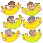 Monkeys With Bananas Accents By Edupress
