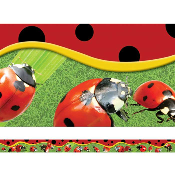 Ladybugs Layered Border By Edupress