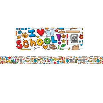 Shop School Doodles Spotlight Border - Ep-3292 By Edupress