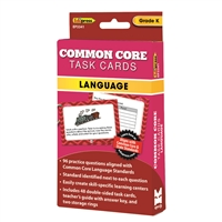 Common Core Task Cards Lang Gr K, EP-3341