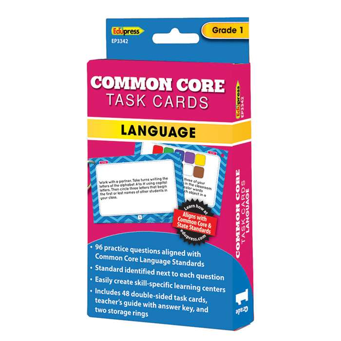 Common Core Task Cards Lang Gr 1, EP-3342