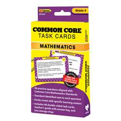 Shop Common Core Math Task Cards Gr 4 - Ep-3347 By Edupress