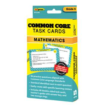 Shop Common Core Math Task Cards Gr 5 - Ep-3348 By Edupress