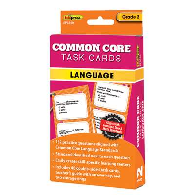 Shop Gr 2 Common Core Language Task Cards - Ep-3350 By Edupress