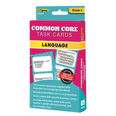 Shop Gr 5 Common Core Language Task Cards - Ep-3353 By Edupress