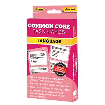 Shop Gr 6 Common Core Language Task Cards - Ep-3354 By Edupress