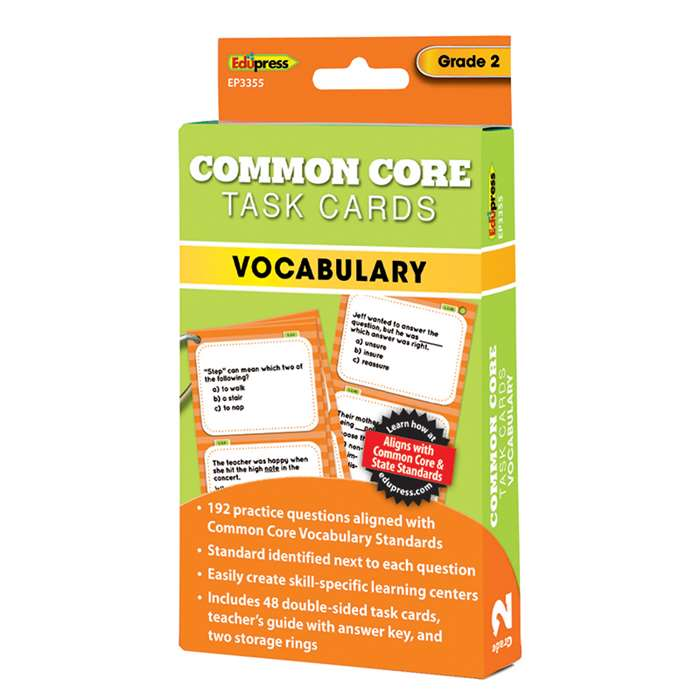 Shop Gr 2 Common Core Vocabulary Task Cards - Ep-3355 By Edupress