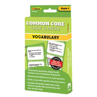 Shop Gr 3 Common Core Vocabulary Task Cards - Ep-3356 By Edupress