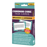 Common Core Task Cards Speaking & Listening Gr 5, EP-3368