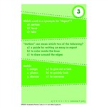 Brain Blasters Vocabulary Practice Cards Gr 4 By Edupress