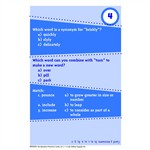 Brain Blasters Vocabulary Practice Cards Gr 5 By Edupress