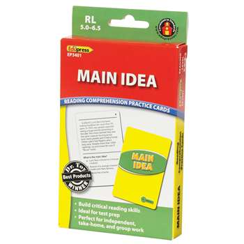 Main Idea Practice Cards Reading Levels 5.0-6.5 By Edupress