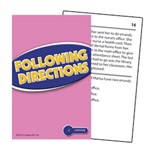Following Directions Practice Cards Reading Level 2.0-3.5 By Edupress