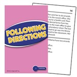Following Directions Practice Cards Reading Level 3.5-5.0 By Edupress