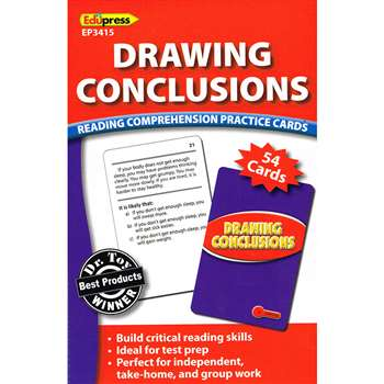 Drawing Conclusions Reading Comprehension Practice Cards Red By Edupress