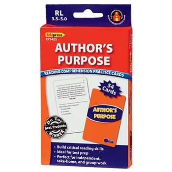 Authors Purpose Practice Cards, Blue Level By Edupress