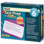 Math Test Prep In A Flash Gr 6 By Edupress