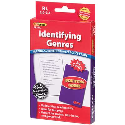 Identifying Genres Reading 2.0-3.5 Comprehension Cards Red Level By Edupress