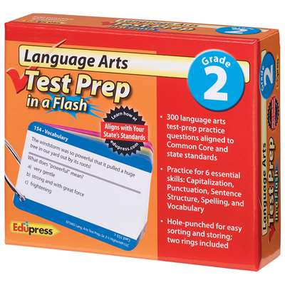 Language Arts Gr 2 Test Prep In A Flash By Edupress