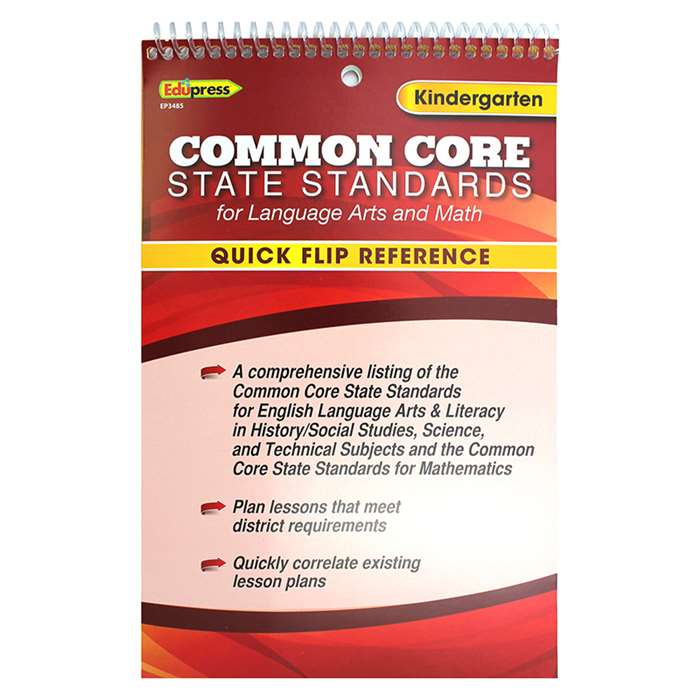 Gr K Quick Flip For Common Core Standards By Edupress