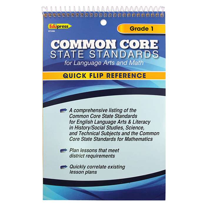 Gr 1 Quick Flip For Common Core Standards By Edupress