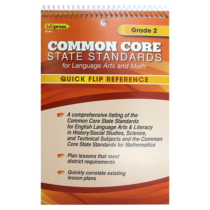 Gr 2 Quick Flip For Common Core Standards By Edupress