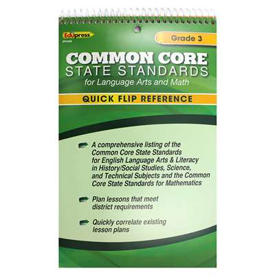 Gr 3 Quick Flip For Common Core Standards By Edupress