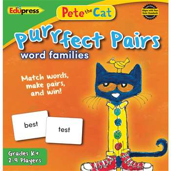 Pete The Cat Purrfect Pairs Word Families Game, EP-3532