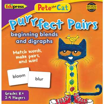 Pete The Cat Purrfect Pairs Game Beginning Blends , EP-3533