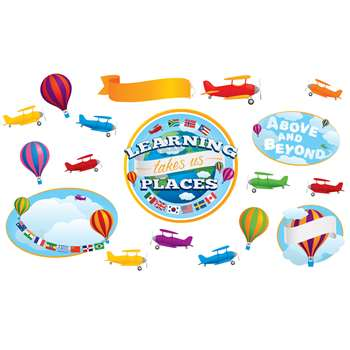Learning Takes Us Places Bulletin Board Set, EP-3578