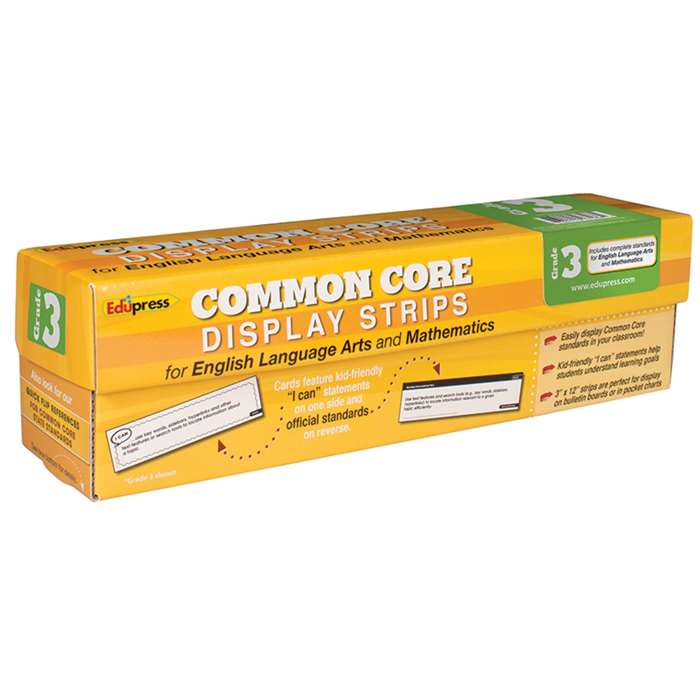 Common Core State Standards Display Strips Gr 3 By Edupress