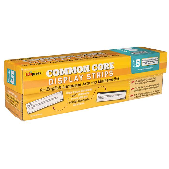 Common Core State Standards Display Strips Gr 5 By Edupress