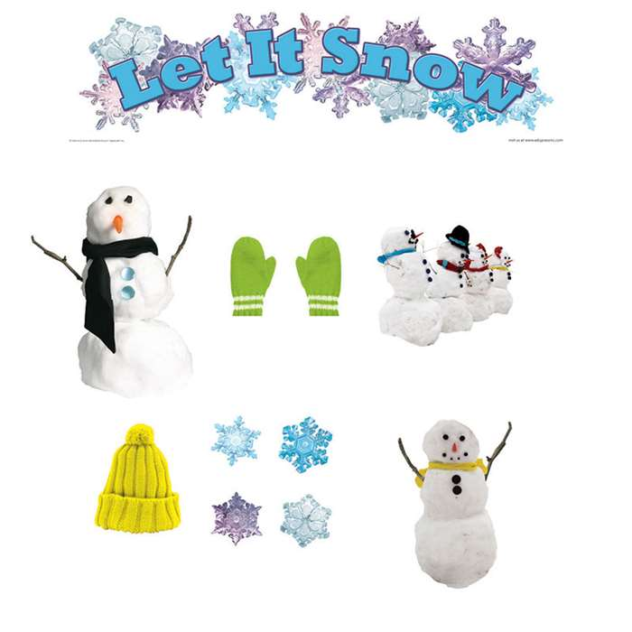 Let It Snow Mini Bulletin Board Set By Edupress