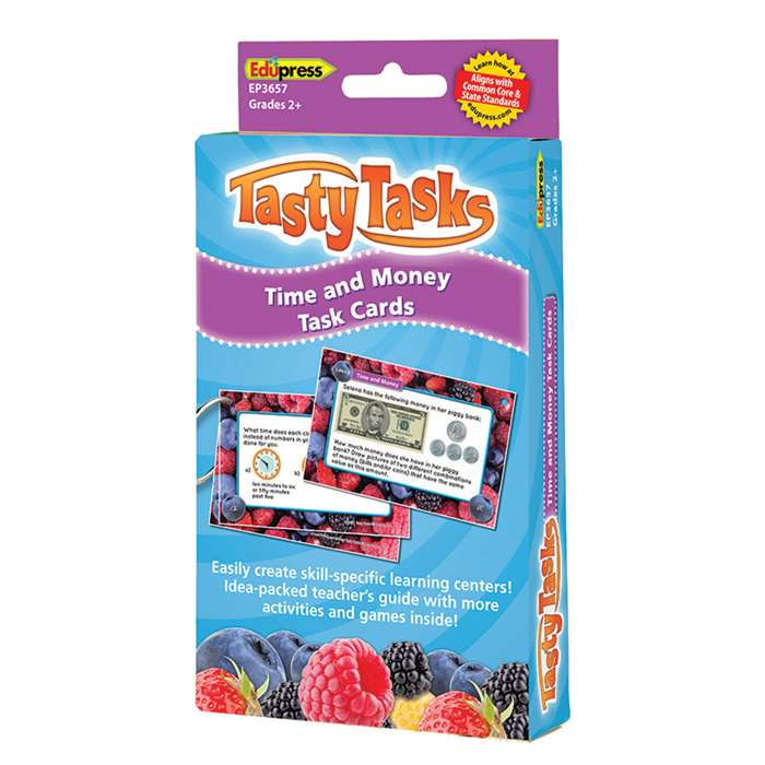 Math Tasty Task Cards Time & Money, EP-3657