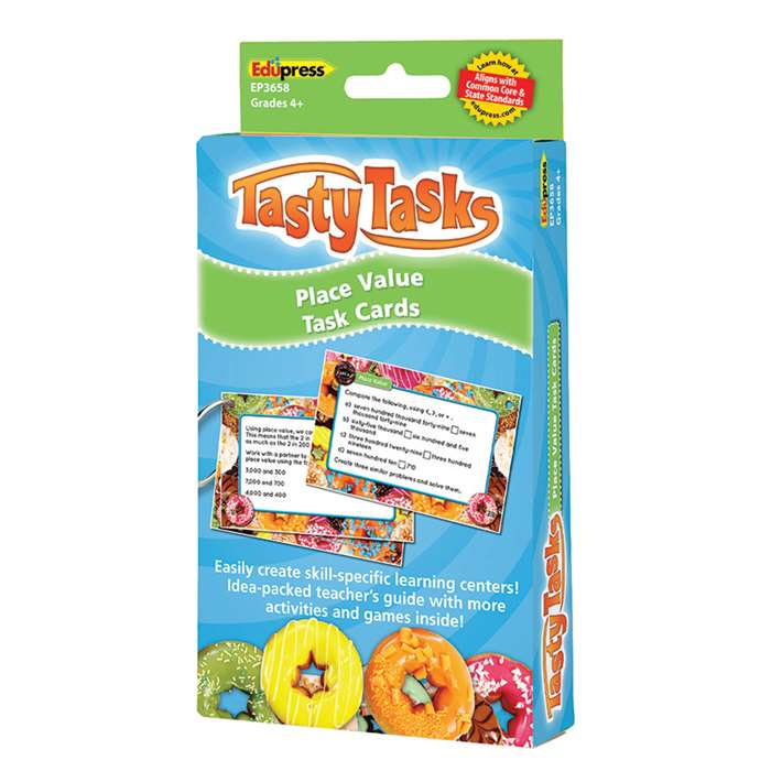 Math Tasty Task Cards Place Value, EP-3658