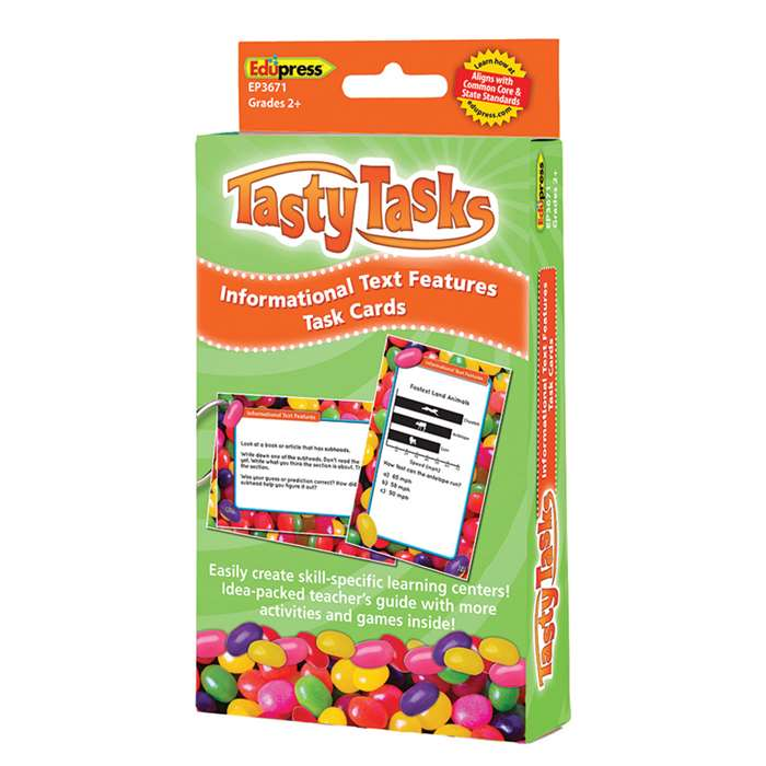 Informational Text Language Arts Tasty Task Cards, EP-3671
