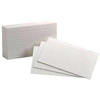 White Commercial Index 1000 Ct 3X5 Ruled Cards By Esselte